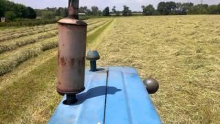 How To Rake Hay The 1960s Way!
