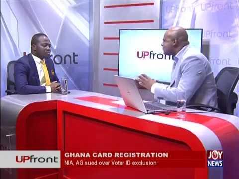 Ghana Card Registration - UPfront on JoyNews (14-6-18)