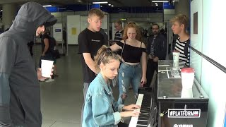 Teenagers Are Wary Of Piano Man In Black