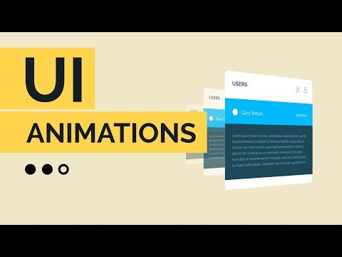 Creating Sleek UI Animations in Adobe After Effects CC 2018