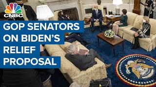 Group of 10 GOP senators respond to President Joe Biden's Covid relief proposal