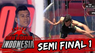 Video M. Rizky Ramadhan 'Hampir Terpeleset Di Spider Walk' [Sasuke Ninja Warrior Indonesia] [27 Mar 2016]