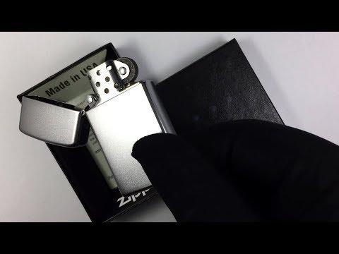 1605 Зажигалка Zippo Slim, Satin Chrome
