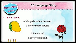Std 2nd English Balbharti Unit 2 - Lesson 2:5 -Language Study
