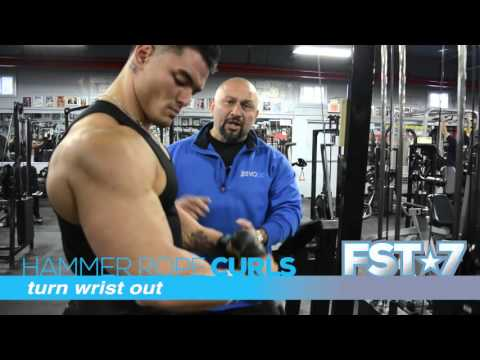 Low Rope Cable Hammer Curls