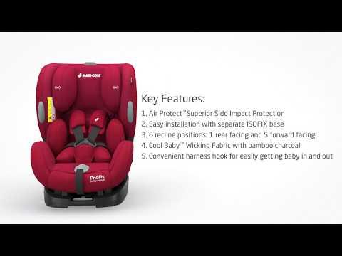 PriaFix Multi-age Car Seat Features