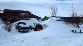 Wolf Creek Snowpocalypse in Casper, Wyoming 2/7/16