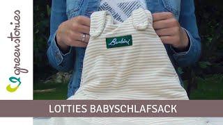 Babyschlafsack von Lotties | Biobaumwolle | ungefärbt