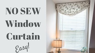 DIY Curtains | No Sew | Home Decor