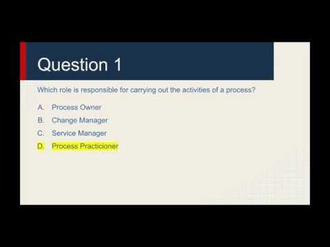 ITIL Foundation Practice Exam Questions - YouTube