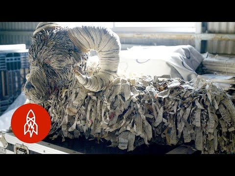 Remarkable Recycled Paper Animal Sculptures