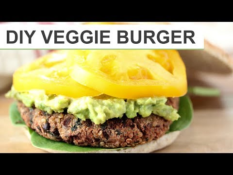 Download HOMEMADE VEGGIE BURGER RECIPE | DIY Veggie Burgers Mp4 HD Video and MP3