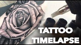 TATTOO TIMELAPSE | BLACK N GREY ROSE | CHRISSY LEE