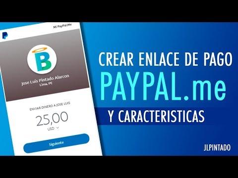 Crear enlace Paypal.me para recibir pagos o donaciones