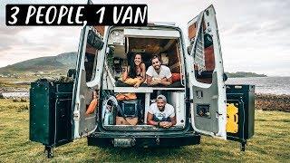 3 PEOPLE LIVING IN A VAN | Van Life in Scotland 🏴