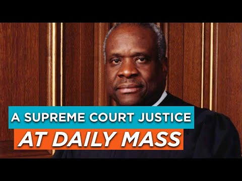 A Supreme Court Justice at Daily Mass