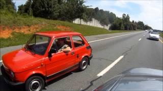 Fiat 126 w Ameryce. Część trzecia. Ruszamy na autostradę.