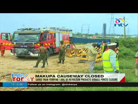 Cargo train ferrying 1,000 litres of petroleum products derails at Makupa