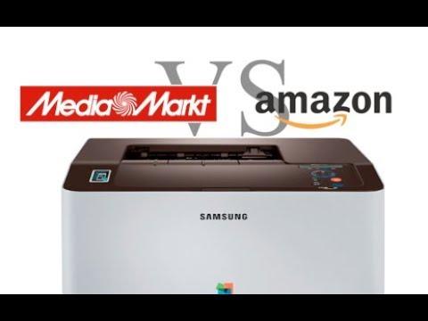 Mediamarkt vs. Amazon Farblaserdrucker Samsung 1810