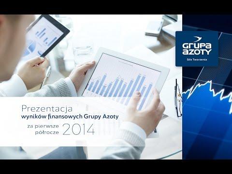 Prezentacja wyników finansowych Grupy Azoty S.A. za I półrocze 2014 - zdjęcie