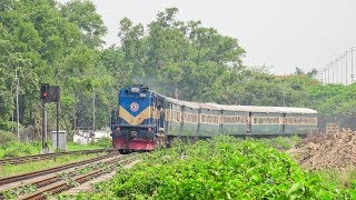 Tangail Commuter Train powered by BR ALCO 6524 WDM 3A Locomotive  Bangladesh Railway
