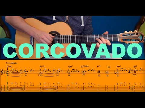 CORCOVADO (Quiet Nights Of Quiet Stars) Tutorial By David Plate - TABs + Score Mp3