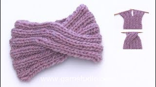 How To Knit A Head Band With A Cable Mid Front.