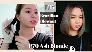 DIY Brazilian Blowout At Home + DIY ASH GRAY ( NO BLEACH ) | Affordable Hair Care Video ✨