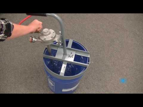 Video Thumnbnail for 5 Gallon MAT-Q 3/4 HP Air Powered Pail Quic Mixers