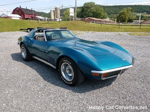 1972 Bight Blue Corvette TTop Video