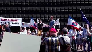 Июньский митинг 2018 в защиту русских школ в Риге