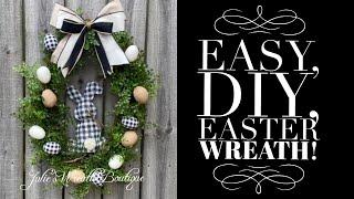 DIY Spring Wreath / How To Make An Easter Wreath / DIY Bunny Wreath