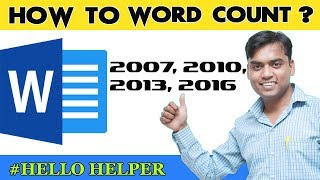 Word Count: How To Word Count in Word - Microsoft Word 2016