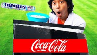 EXPERIMENT: COKE VS. MENTOS AQUARIUM UNDERWATER!!