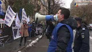 Protest al angajaților din poliţie, administraţie publică, asistenţă socială şi penitenciare
