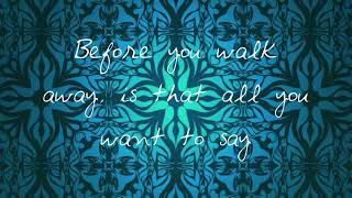 Aaron Carter (What Did You Want To Say Lyrics)