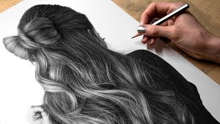 Drawing Photorealistic Hair With Graphite