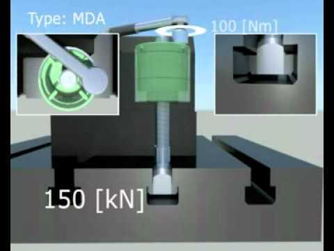 Das wesentliche Konstruktionsmerkmal der Baureihe MDA ist ein integriertes Übersetzungsgetriebe zur Vervielfachung des manuellen Anzugsmoments. Somit stehen dem Anwender sehr robuste und flexible Spannelemente zur Verfügung, welche höchste Spannkräfte bei einfacher manueller Bedienung und maximaler Betriebssicherheit ermöglichen. Die Baureihe MDA ist mit Durchgangsgewinde und seitlich versetztem Bediensechskant ausgeführt. Die Kraftspannmuttern können für vielfältige Spannaufgaben im gesamten Maschinenbau, beispielweise zur Werkzeugklemmung in Pressen und Stanzen eingesetzt werden.