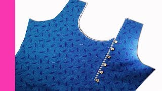 Kurti Neck Piping Stitching