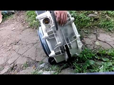 Ремонт стиральной машины indesit wisn 100 как распилить бак самому и заменить подшипники!