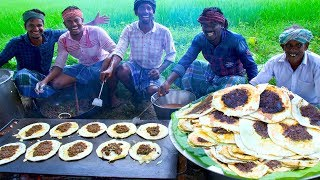 MUTTON KARI DOSAI   Madurai Special Street Food   South Indian Kari Dosa Recipe with Mutton Gravy