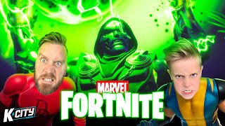 The Hunt for DR. DOOM in Marvel Fortnite DUOS!!! K-CITY GAMING