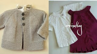 Most Beautiful And Stylish Hand Knitting And Crochet New Baby Sweaters Designs