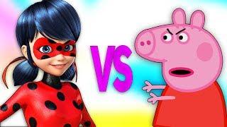 ЛЕДИ БАГ И СУПЕР КОТ VS СВИНКА ПЕППА | СУПЕР РЭП БИТВА |Miraculous Ladybug ПРОТИВ Peppa Pig for kids