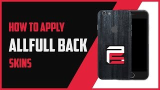 How To Apply All Full Back ProSkinz Skins