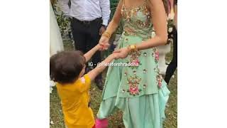 Shraddha kapoor having fun with Riteish son during the song shoot of #Bhankas