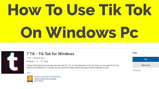 Gambar cover How To Install Tik Tok App On Windows 10 Pc-2019
