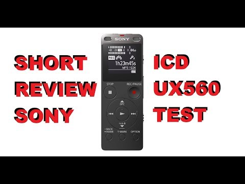 DuB-EnG: Sony Digital Audio Voice Recorder ICD UX560 Review Sound Test Giant Squid Lavalier MIC