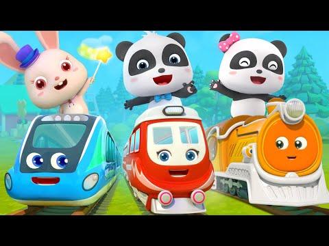 Super panda and super train   thomas train   nursery rhymes   kids songs   babybus