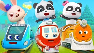 Super Panda and Super Train | Thomas Train | Nursery Rhymes | Kids Songs | BabyBus